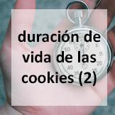duración de vida de las cookies