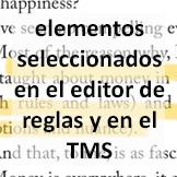 Tips - Elementos seleccionados en el editor de reglas y en el TMS