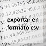 Tips - Exportar en formato csv