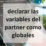 Tips - declarar las variables del partner como globales