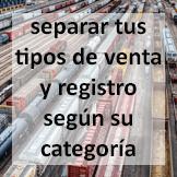 Tips - Separar tus tipos de venta y registro según su categoría