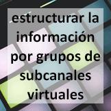 Tips - estructurar la información por grupos de subcanales virtuales