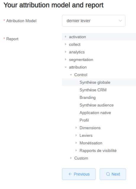 modèle attribution